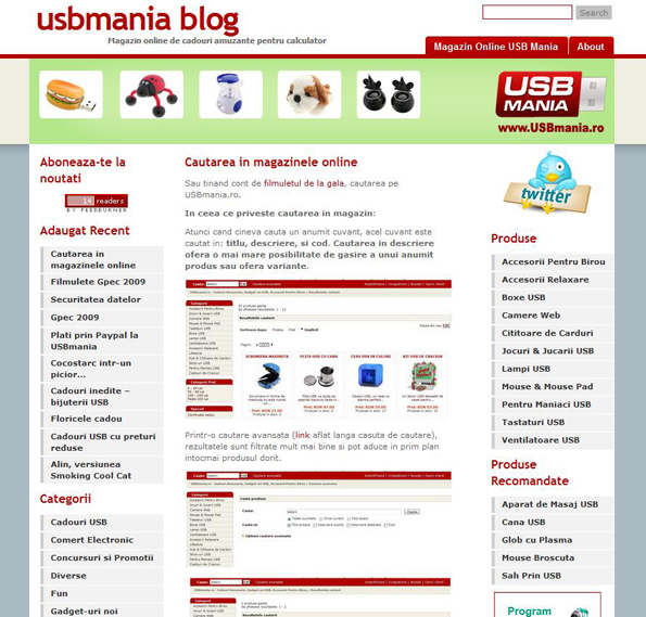 Blog Vechi Cadouri USB