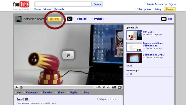 USBmania pe YouTube