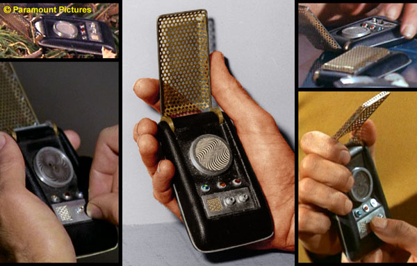 Some original series Star Trek Communicators as built by Wah Ming Chang