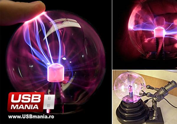 Daca vrei sa faci propriul tau numar de magie, globul cu plasma poate fi gasit in magazinul USBmania.