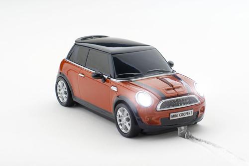mouse automobil cooper portocaliu