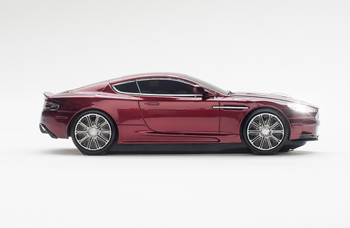 mouse usb click car aston martin magnum red