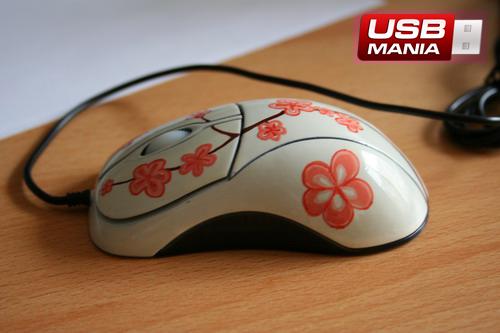 mouse usb cu flori