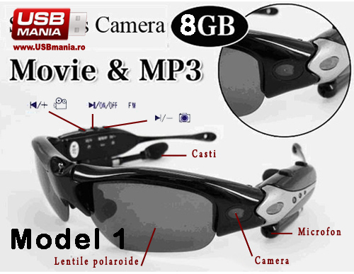 ochelari mp3 cu camera video