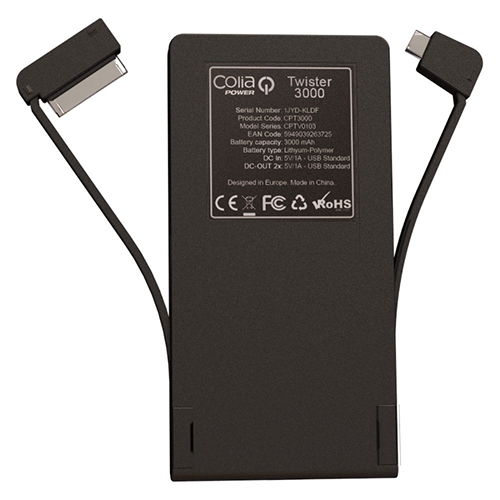 baterie externa twister 3000 spate