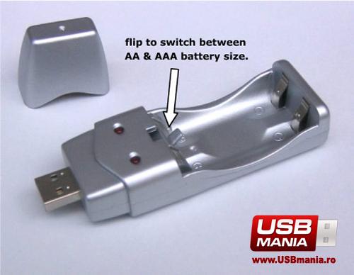 incarcator baterii usb