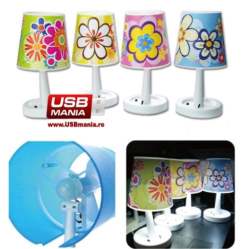 lampa usb floricele