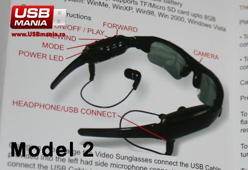 ochelari cu camera video si mp3 player