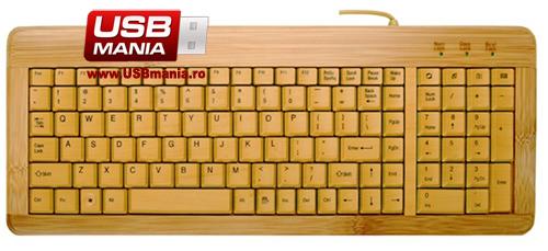 tastatura ecologica bambus
