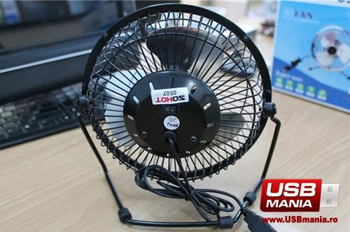 ventilator usb metalic cadouri office